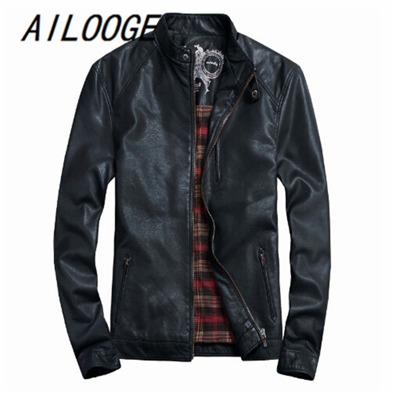 Brand trade orders, fashion motorcycle jackets men, men's classic pu leather jacket coat, jaqueta de couro plus size M-5XL