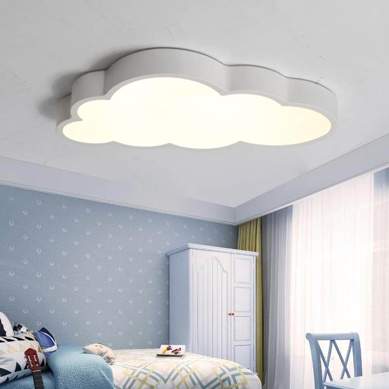 US $63.7 30% OFF|Modern Ceiling Lights LED Cloud Ceiling Lamp children Baby  kids lamp Girl bedroom light fixtures Colorful lighting luminaire-in ...