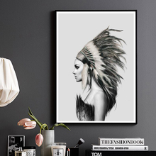 hot deal buy hand-painted style  indian girl canvas art poster print home decor size a1 a2 a3 a4 a5 print