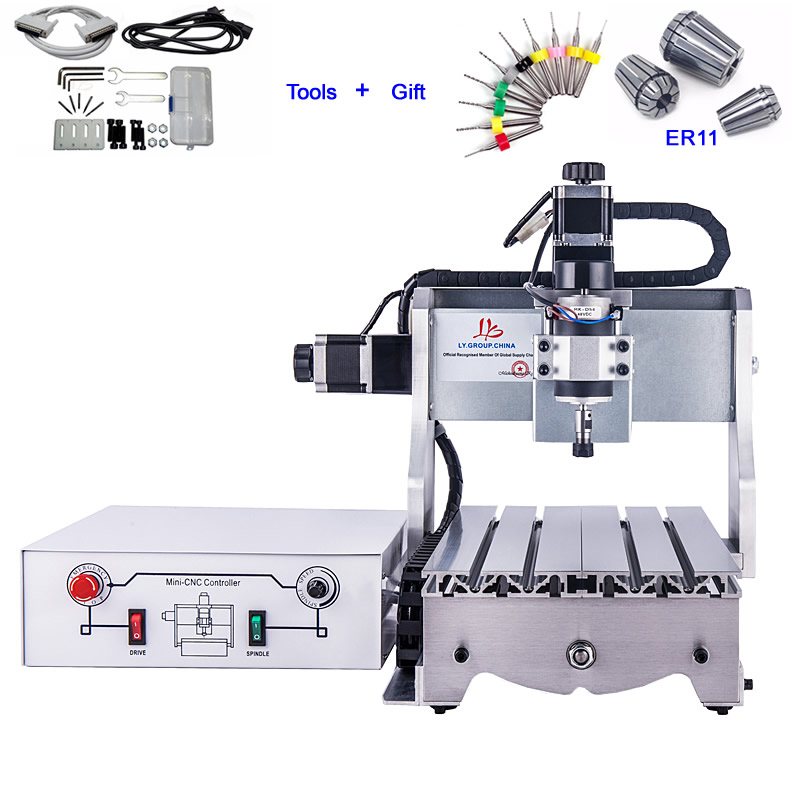 Small CNC Milling Machine CNC 3020 T D300 Engraving Machine CNC Router Cutter Made in China 300W Spindle