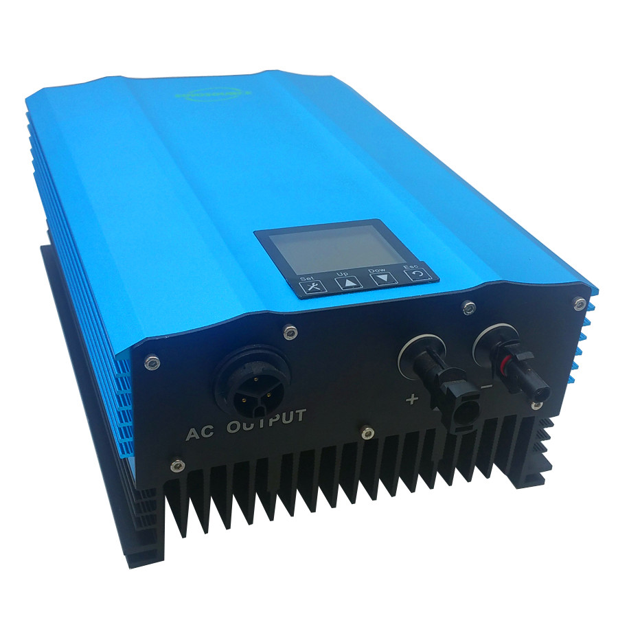waterproof inverter 1000W grid tie inverter DC to AC High efficiency pure sine wave home solar System LCD display New function 1500w grid tie power inverter 110v pure sine wave dc to ac solar power inverter mppt function 45v to 90v input high quality
