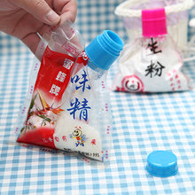 5pcs Food preservative sealed with a lid Moisture seal bag clip plastic bag sealing clip feeding nozzle kitchen accessories(China)