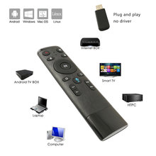 Voor Gyro Sensing Game 2.4Ghz Draadloze Microfoon Afstandsbediening Voice Control Fly Air Mouse Voor Smart Tv Android Box pc(China)
