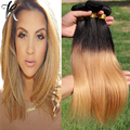 "Brazilian Ombre Straight Hair Extension Braiding Hair Weave 2 Tone 1B27 Dark Roots Tissage Cheveux Humain Hair 1PC 10-30"" 03S101"