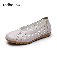 Women Summer Shoes Breathable Soft Flats Slip On Loafers Ladies Ballet Flats Real Leather Shoes Women Casual Shoes Flat With real picture white crystal women sandals zipper women shoes flats casual vacation shoes women wedding shoes flat summer shoes