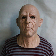 2019 Hot Sale High Quality Fashion Realistic Latex Old Man Mask Theresa May Halloween Party Dress Rubber