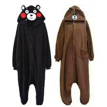 c704e12f72 Kigurumi Onesie Tier Kumamon Erwachsene Jugendliche Frauen Pijama Pyjamas  Lustige Flanell Warme Weiche Nachtwäsche Insgesamt Onepiece