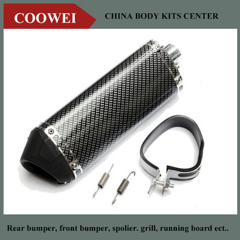 36mm Carbon fiber Color Exhaust Muffler With DB-Killer for Motorcycle Scooter Dirt Pit Bike ATV bmw f30 akrapovic auspuffblende