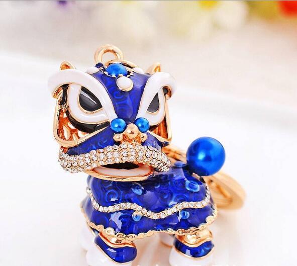 120 шт. специальный Китайская народная талисман Лев танец творческий эмаль металлические брелоки подарок для Для женщин девочек ювелирные украшения амулеты lin4117 - 5