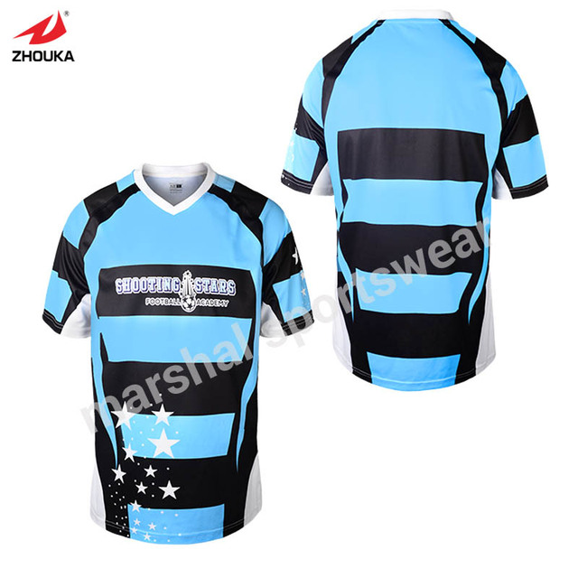 Stripes design mixcolor custom soccer jersey t-shirt top quality  sublimation print 100%polyester factory price 1805c237d
