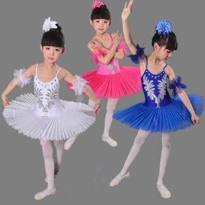 Swan Lake Ballet Dress New Children Colorful White Professional Tutu Ballet Costume Ballet Clothing For Girls