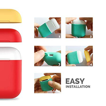 case for iphone airpods headphones wireless clean/skin soft silicone TPU dust guard accessories