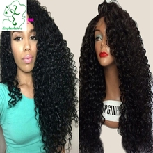 Wholesale brazilian curly full lace human hair wigs glueless kinky curly human hair lace front wigs with baby hair 150% density
