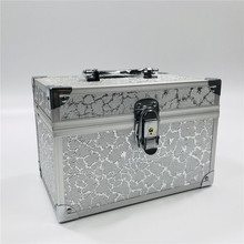 Aluminum Alloy Cosmetic Box Cosmetic Organizer Makeup Bag Organizer Travel Bag Portable Gift Box Make Up Professional Cosmetics цена и фото