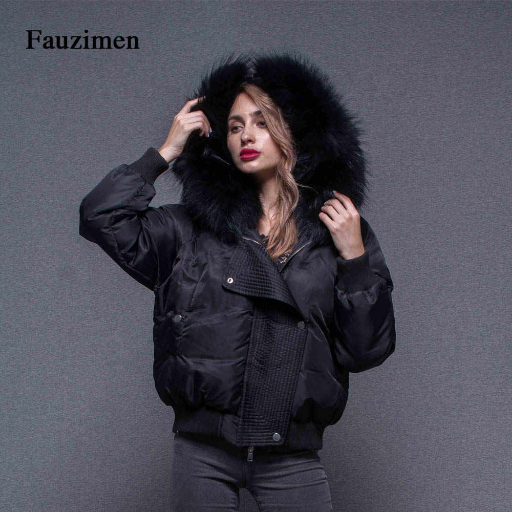 how to get good reputation search for newest Winter TongXiang thick warm Women Winter Coat Big Raccoon High Quality Fur  Hooded Bomber Jacket black jacket ladies coats