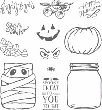Halloween Eye pumpkin bottle Transparent Clear Silicone Stamp/Seal for DIY scrapbooking/photo album Decorative clear stamp