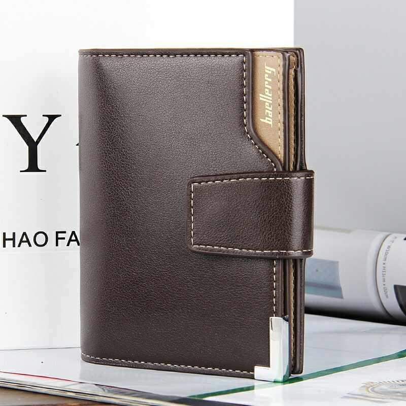 Бренд мужской кошелек на молнии сумка мужской маленький кошелек Короткий раздел держатель для карт денежный карман высокое качество кошелек для монет для мужчин