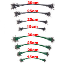 100Pcs With 20pcs for 20/25/30cm and 40pcs for 15cm Anti Bite Steel Fishing Line Steel Wire Leader Fishing Wire Line Leash 10pcs 5 6 7 8 9 10 11 12 13 carbon steel leader wire line hook anti bite with swivel fishing accessor steel wire hook
