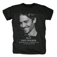 Fast And Furious R.I.P PAUL WALKER T SHIRT 100% Cotton Casual T Shirts Hip Hop Style Tops Tees