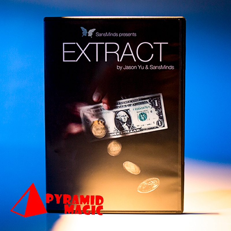 Extract (DVD And Gimmick) By Jason Yu And SansMinds  / Close-up Street Card Magic Trick / Wholesale