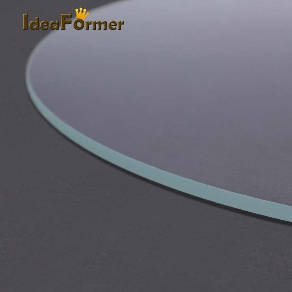 3D Printer Round Borosilicate Glass Tempered Glass Plate Diameter 200mm 220mm 240mm Heated Bed Flat Transparent for Kossel Delta