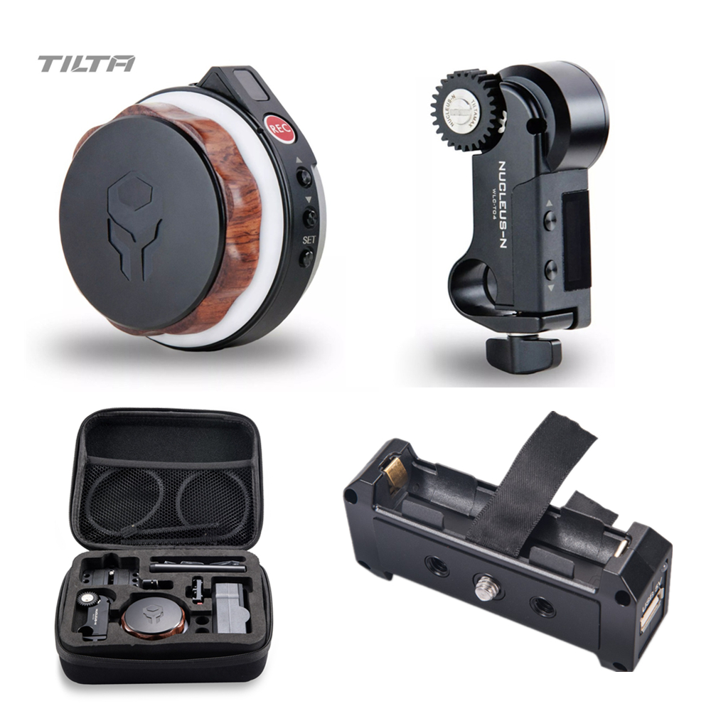 Tilta Nucleus-Nano Wireless Follow Focus Nucleus N Lens Control System With 18650 Battery Plate 15mm Rod Adapter