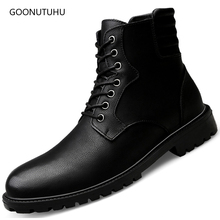 2019 autumn winter mens boots military casual shoes genuine leather man plus size shoe snow boot black ankle army for men