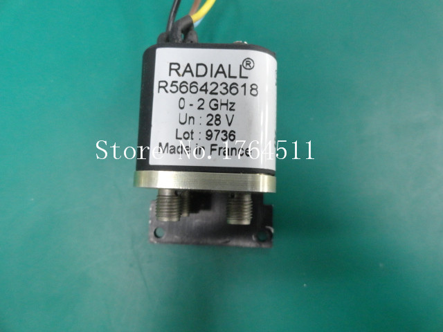 [BELLA] RADIALL R566423618 DC-2GHZ DPDT RF Coaxial - 28V SMA