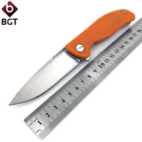 Medford Praetorian 2 Hunting Knife D2 Blade Titanium Handle Ball Bearing Tactical Camping Folding Knives Survival