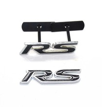 Metal RS Emblem Badge Car Styling Sticker for Ford Focus Chevrolet Cruze Kia Rio Sportage Skoda Octavia Mazda 3 VW Hyundai Opel