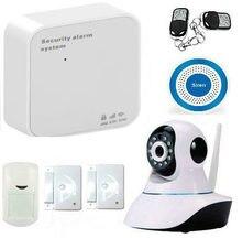 WIFI Inalámbrico GSM GPRS cámara de Vídeo IP de Alarma Antirrobo Casa de Seguridad Sistema de Seguridad Detector PIR Sensor de Puerta