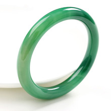 Brazil natural Green chalcedony crystal bracelet round of the bangle Women agate wholesale
