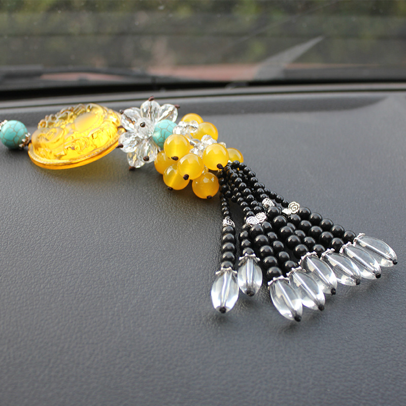 Crystal Car Hanging Pendant Glass Car Suspension Accessories Stone Interior Rearview <font><b>Mirror</b></font> Ornament Fengshui Crafts Home Decor