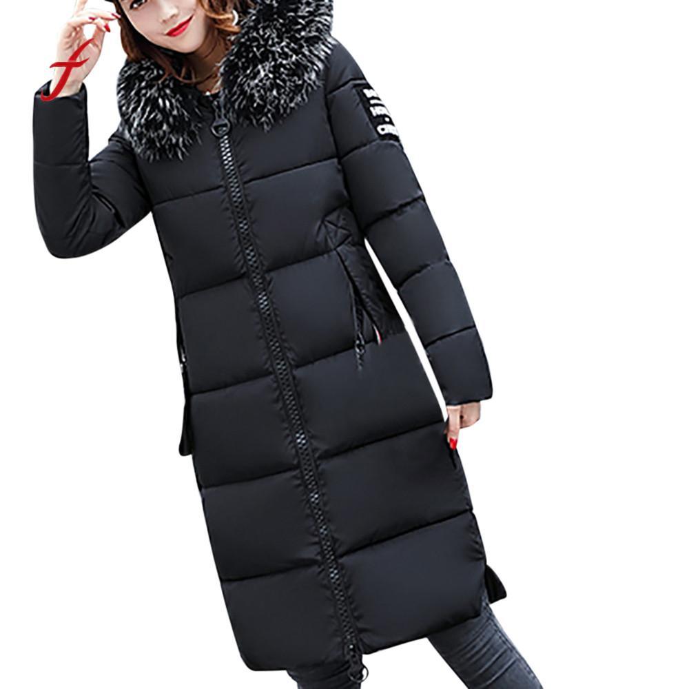 noir Beige Femmes Harajuku Vestes Down marron Solide Manteau Feitong bleu Pardessus Slim Hiver Nouvelles Femme pu Épais Casual 2018 Ciel Lammy ZnwBECxa