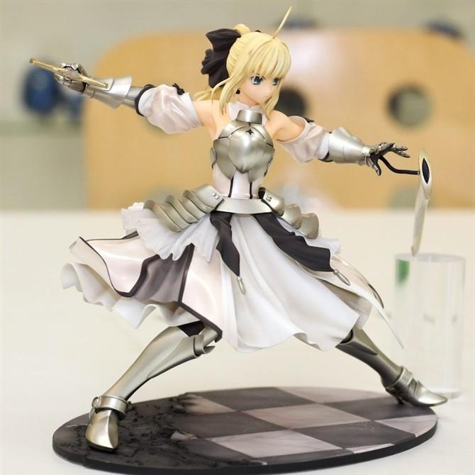 NEW hot 23cm Fate/stay night Fate stay night saber lily action figure toys collection Christmas gift doll alen new hot fate stay night racing girl black blue white saber throne pajamas action figure toys collection christmas gift doll