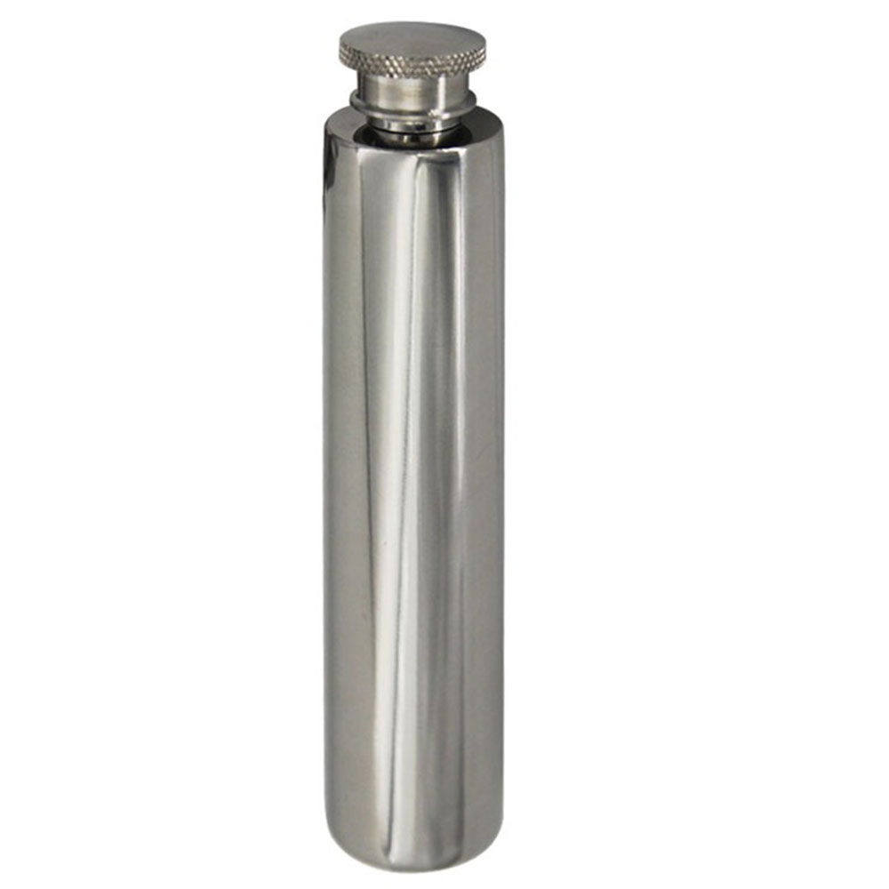 2 OZ Portable Stainless Steel Hip Flask Wine Tube Whisky Alcohol Drinkware