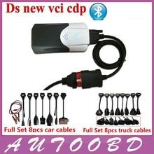 DHL Бесплатная доставка 2014. R2 с Активатором DiagnosticTool TCS CDP Pro С Bluetooth (ДВЕ PCB) плюс Все Кабели 16 ШТ. (автомобили и Грузовые автомобили)