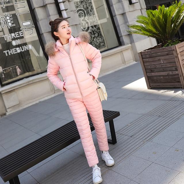Survêtement femmes hiver fausse fourrure col à capuche veste manteau pantalon costume femme imprimé Floral broderie bas coton 2 pièces ensembles E35