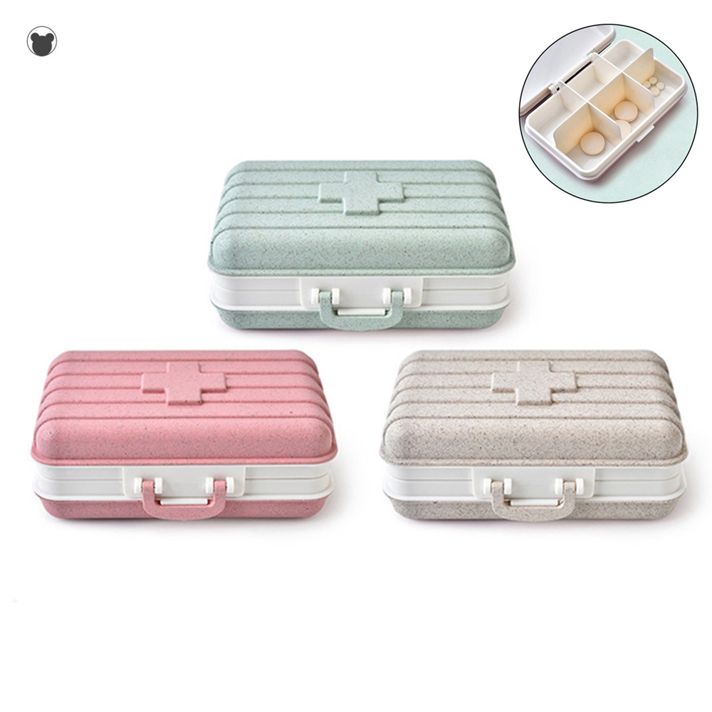 Portable 6 Grids Pill Case Medicine Box Travel Health Care Storage Organizer Pill Organizer Weekly Pill Box storage box