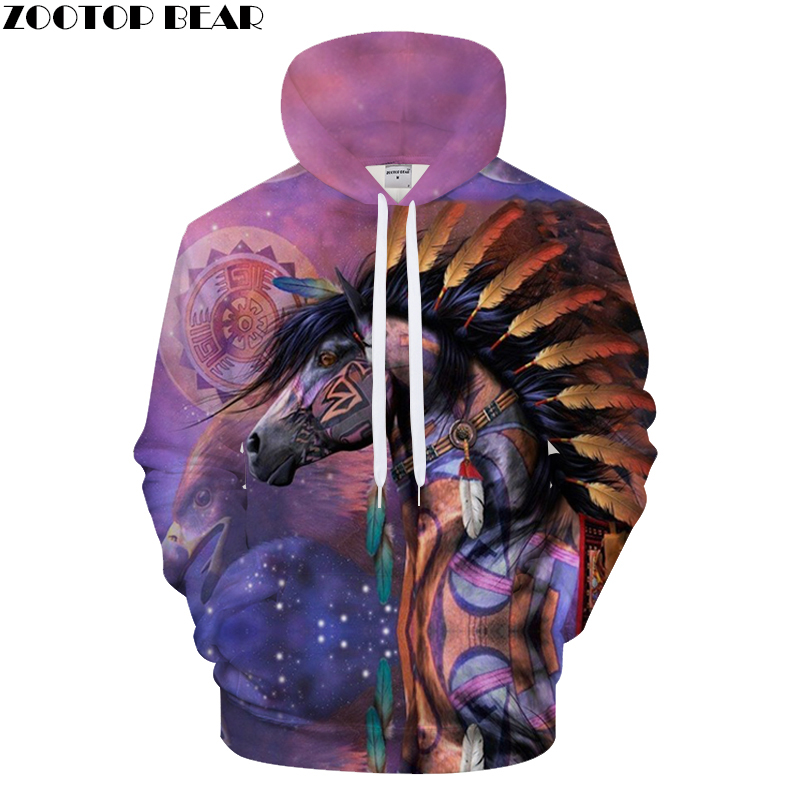 Eagle And Horse Printed Hoodies 3D Men Women Band Hooded Pullover 6XL Sweatshirts Casual Pocket Outwear Novelty Coat Drop Shippi