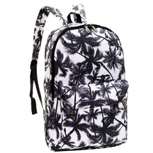 men's printing backpack fashion Women's canvas notebook backpack school bags for teenagers neutral travel bags