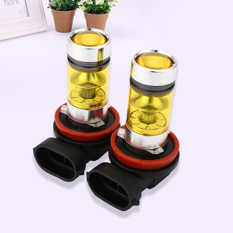 2Pcs Car Vehicle H8 H11 Yellow LED Fog Driving DRL Light Bulbs Universal