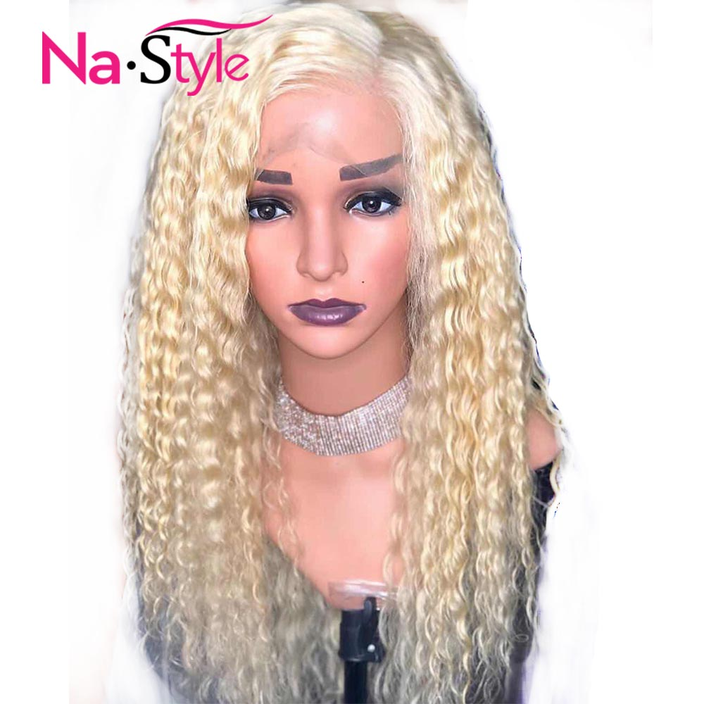 Blonde Lace Front Wig 613 Frontal Wig Curly Invisible 13x6 Lace Front Human Hair Wigs Hd Transparent Lace Wigs Preplucked Remy image