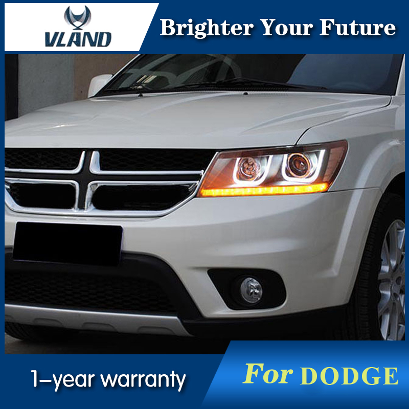 HID Headlights For Dodge Journey JCUV LED Headlight 2008 2015 Land Rover Style Head Lamps