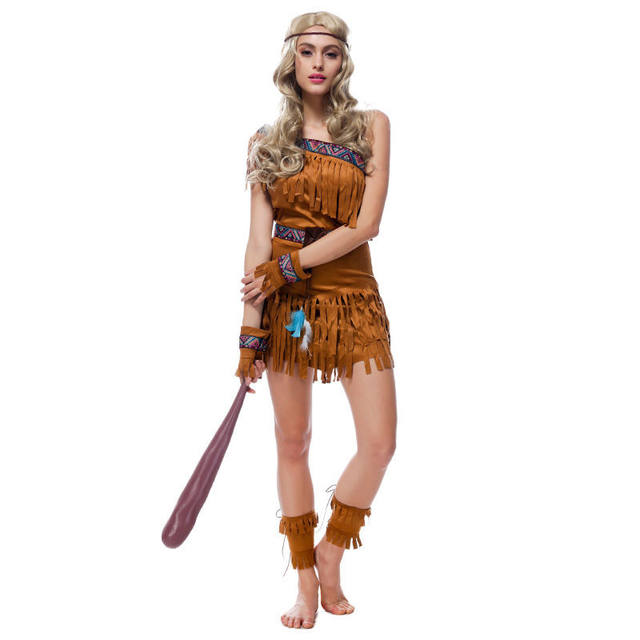 Halloween party women cosplay Indians costumes Pocahontas Adult Fancy Dress Temptation uniforms Savage High-quality  sc 1 st  Aliexpress & Online Shop Halloween party women cosplay Indians costumes ...