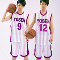 KUROKO'S BASKETBALL Kuroko no Basuke Cosplay Yosen School No.9 Murasakibara Atsushi Basketball Jersey Sportswear Uniform