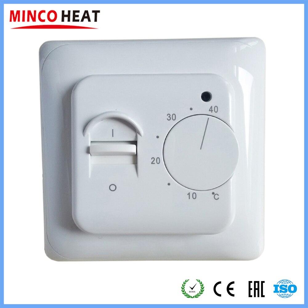 Thermostat électrique de pièce de chauffage par le sol utilisation de câble de plancher chaud manuel Termostat 220 V 16A Instrument de régulateur de température (1 PC)