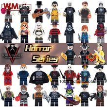 Legoingly Jason Voorhees Hockey Mask Guy Minifigs Pennywise Horror Movie Building Blocks Bricks Model Gifts Toys for Children(China)
