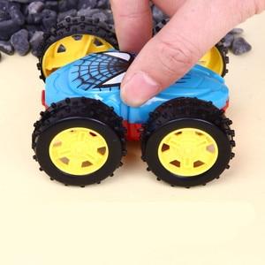 Image 2 - 1 قطعة منتج جديد بالقصور الذاتي على الوجهين شاحنة قلابة مقاومة 360 درجة الوجه سيارات لعبة هدايا عيد الاطفال لعب للأطفال