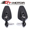 GT Motor - free shipping New arrived universal motorcycle rearview side mirror